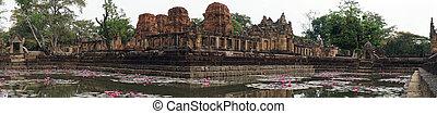 Prasat Mueang Tam Stone Sanctuary - BURIRAM, THAILAND -...