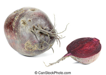 beetroot from organic farming isolated on white background