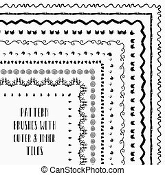 Vector pattern brushes with outer and inner tiles -...
