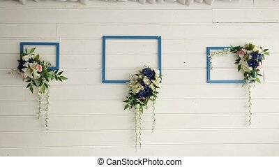 Flowers decoration on the wall