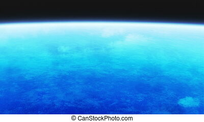 earth atmosphere - 3d animation of earth from outer space...