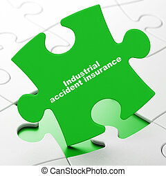 Insurance concept: Industrial Accident Insurance on puzzle...