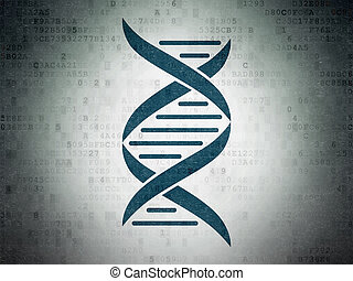 Health concept: DNA on Digital Data Paper background