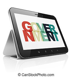 Politics concept: Tablet Computer with Government on  display
