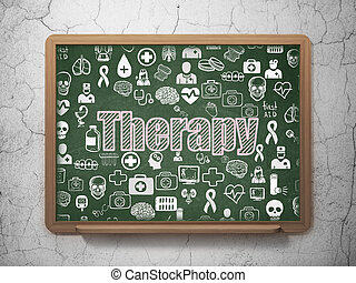 Health concept: Therapy on School board background