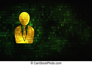 Marketing concept: Business Man on digital background