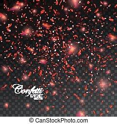 Confetti Glitters. - Sparkling Confetti. Vector Festive...