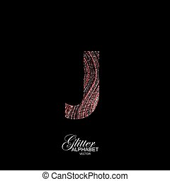 Curly textured Letter J.
