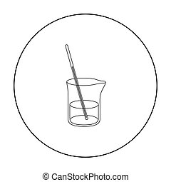 Mixture icon outline. Single medicine icon from the big...
