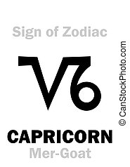 Astrology: Sign of Zodiac CAPRICORNUS (The Mer-Goat) -...