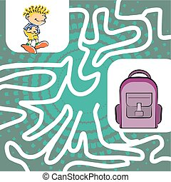 Labyrinth maze for children - You can help the child find...