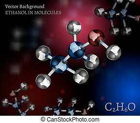 Ethanol Background Image - Scientific background with...
