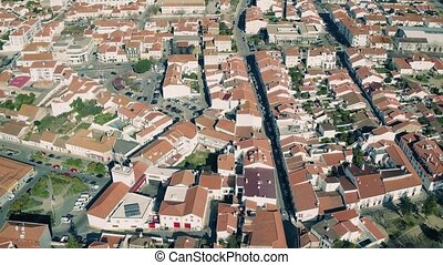Aerial View Red Tiled Roofs City Montemor-o-Novo, Portugal
