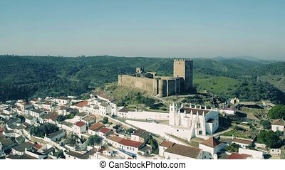Aerial View of the Fortified Town Mertola, Portugal