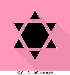 Shield Magen David Star Inverse. Symbol of Israel inverted....