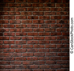 texture of decorative red brick wall pattern - background...