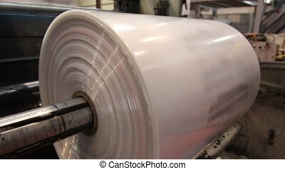Industrial production of plastic sheeting