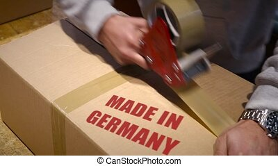 Shipment of goods made in Germany - Production worker...