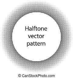 Halftone circles, halftone dot pattern Vector picture -...
