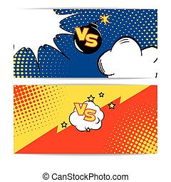 Fight Bubble Comics Style - Vector Illustration of Fight...