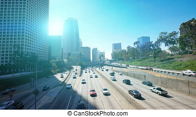 Video of highway in Los Angeles in 4K - High quality video...
