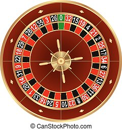 roulette - isolated wheel of european roulette