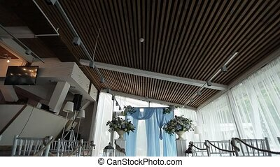 Wedding ceremony decoration indoors shot