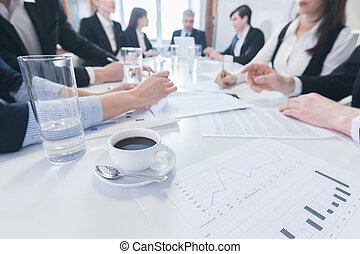 Business people meeting at office - Group of business people...