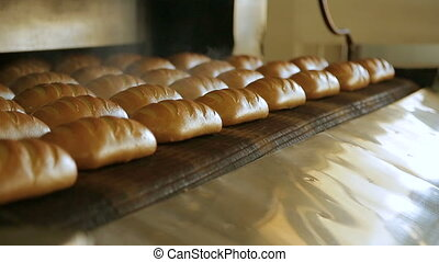 Bread bakery food factory production - Making a loaf of...