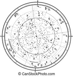 Astrological Horoscope - Astrological Celestial map of...