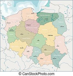 Map of Poland - The Republic of Poland is a country in...