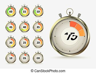 countdown - Golden digital timers countdown. Realistic...