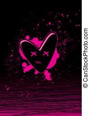 black and pink hearts