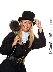 Chimney sweep. Lucky New Year's Eve, New Year - Woman as a...