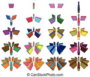 collection of orthogonal geometric shapes - collection of...