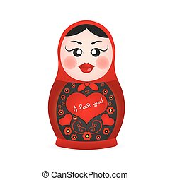 Russian dolls icons - Russian dolls set logo silhouette...