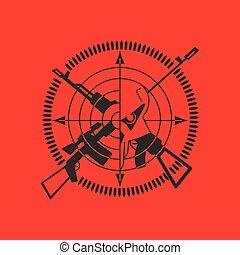 war logo skull - King of war logo,skull and gun.