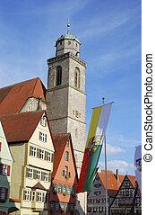 Dinkelsb?hl - Minster St. Georg of Dinkelsb?hl in Franconia...