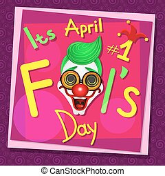 April Fools Day. - Illustration of a jester hat. April Fools...