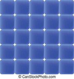Pattern of blue tiles, vector image