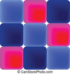 Pattern of blue and pink tiles