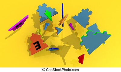 3d puzzle forming the title strateg