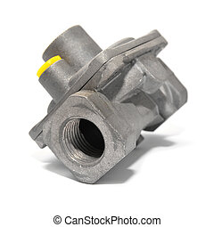 gas pipe joint isolated on white background