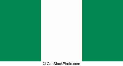 flat nigerian flag