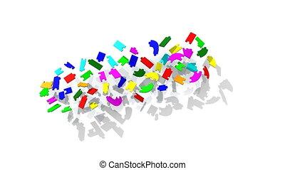 3d pieces forming teambuilding titl