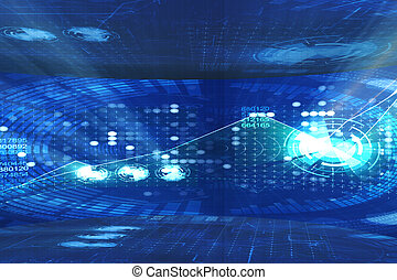 Abstract futuristic background in IT concept