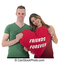 Love couple friends forever - Love couple man and woman...