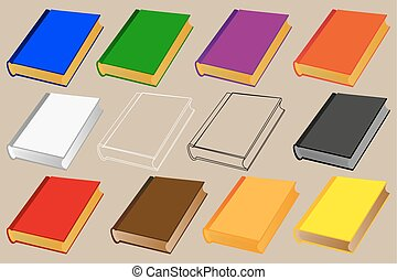 book vector illustration - set