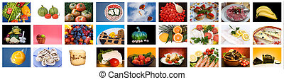 Food Collage - Mix of food photos at 800 x 600 pixels each...