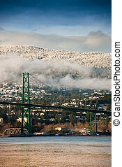Lions Gate Bridge, North Vancouver, BC, Canada - Green Lions...